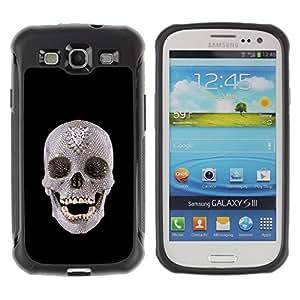 Suave TPU GEL Carcasa Funda Silicona Blando Estuche Caso de protección (para) Samsung Galaxy S3 III I9300 / CECELL Phone case / / The Skull /