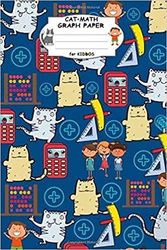 Buy Cat Math Graph Paper for Kiddos: 4x4 Square Quad Rule