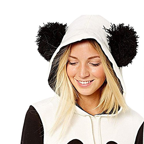 Modello Con Felpa Hoodies Inverno Autunno Panda Bello 1 Cappuccio Elegante Maniche Cappotto Donna Tasche Lunghe Felpe Pullover Capispalla Sweatshirt 5n5PxwY