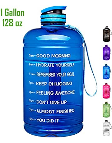 c6cd217b244 Venture Pal Large 128oz/74oz Leakproof BPA Free Fitness Sports Water Bottle  with Motivational Time
