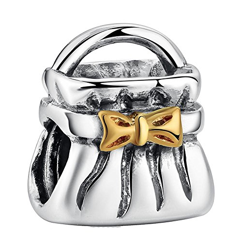 Chariot Trading - 925 Sterling Silver Charm Bow Handbag (Bike Accesories Bags compare prices)