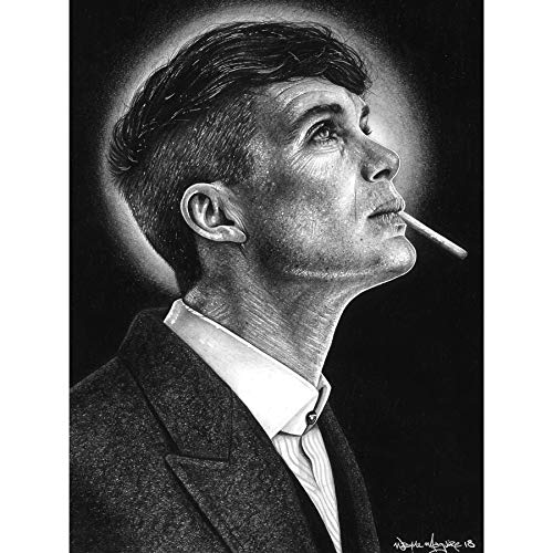 Tommy Shelby Gangster Peaky Blinders Wayne Maguire Large Wall Art Poster Print Papel grueso 18X24 pulgadas