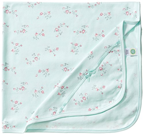 Little Me Baby Girls' Floral Spray Blanket, Mint Print, One Size ()