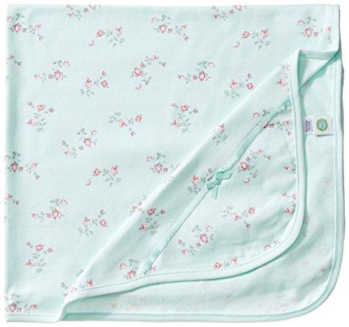 Little Me Baby Girls' Floral Spray Blanket, Mint Print, One Size - Floral Blanket Green