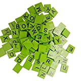 100 Multipack Wooden Puzzles Style Tiles Wood Letters Craft Cardmaking