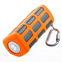 Outdoor Portable Wireless Bluetooth Speaker Waterproof with Power Bank, Built-in 7000mAh Rechargeable Battery, 20 Hours Playtime, Powerful Surround Hi-fi Sound with Enhanced Bass (Orange)