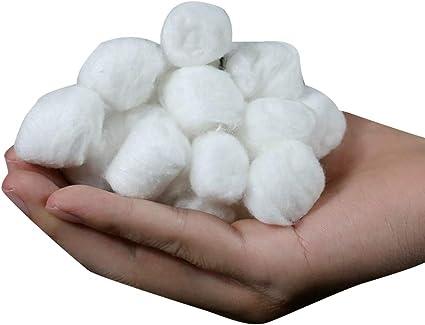 La bola rodante YaptheS desechable absorbente algodón natural Médico desmaquillar esmalte de uñas de limpieza Bolas de algodón multipropósito de 100% puro algodón de bolas Approx.400Pcs esencial de l: Amazon.es: Belleza