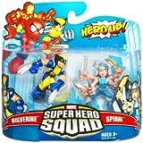 Marvel Superhero Squad Series 16 Mini 3 Inch Figure 2Pack Wolverine & Spiral