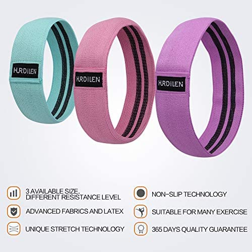 Hurdilen Resistance Bands Loop Exercise Bands ,Workout Bands Hip Bands Wide Resistance Bands Hip Resistance Band for Legs and Butt,Activate Glutes and Thigh