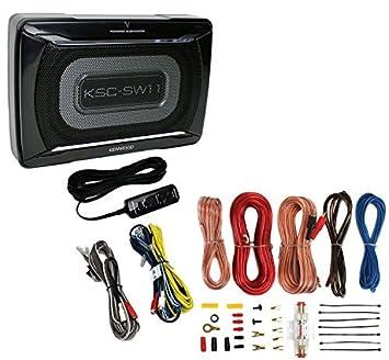 Kenwood ksc-sw11 150 W perfil bajo caja de subwoofer Amplificador para coche + Amp