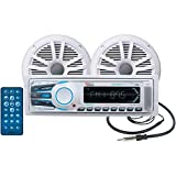 BOSS Audio MCK1308WB.6 Combo Kit Includes MR1308UAB AM/FM MECHLESS Receiver, One Pair of 6.5-Inch MR6W