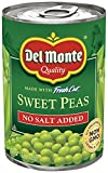 Del Monte Canned No Salt Added Sweet Peas, 15-Ounce