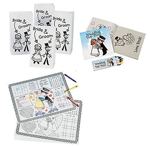 Wedding Activity Kits Kids Placemats