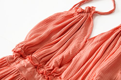 Boho Short Summer Dresses Women's Sexy Pink Neck Bohemian Beach VERGOODR V Patchwork Mini Backless Deep qEHnOv5vw
