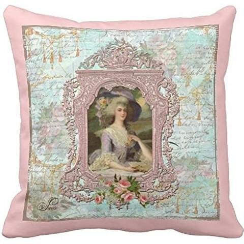 Marie Antoinette Pink Roses 16*16 pillow case cover