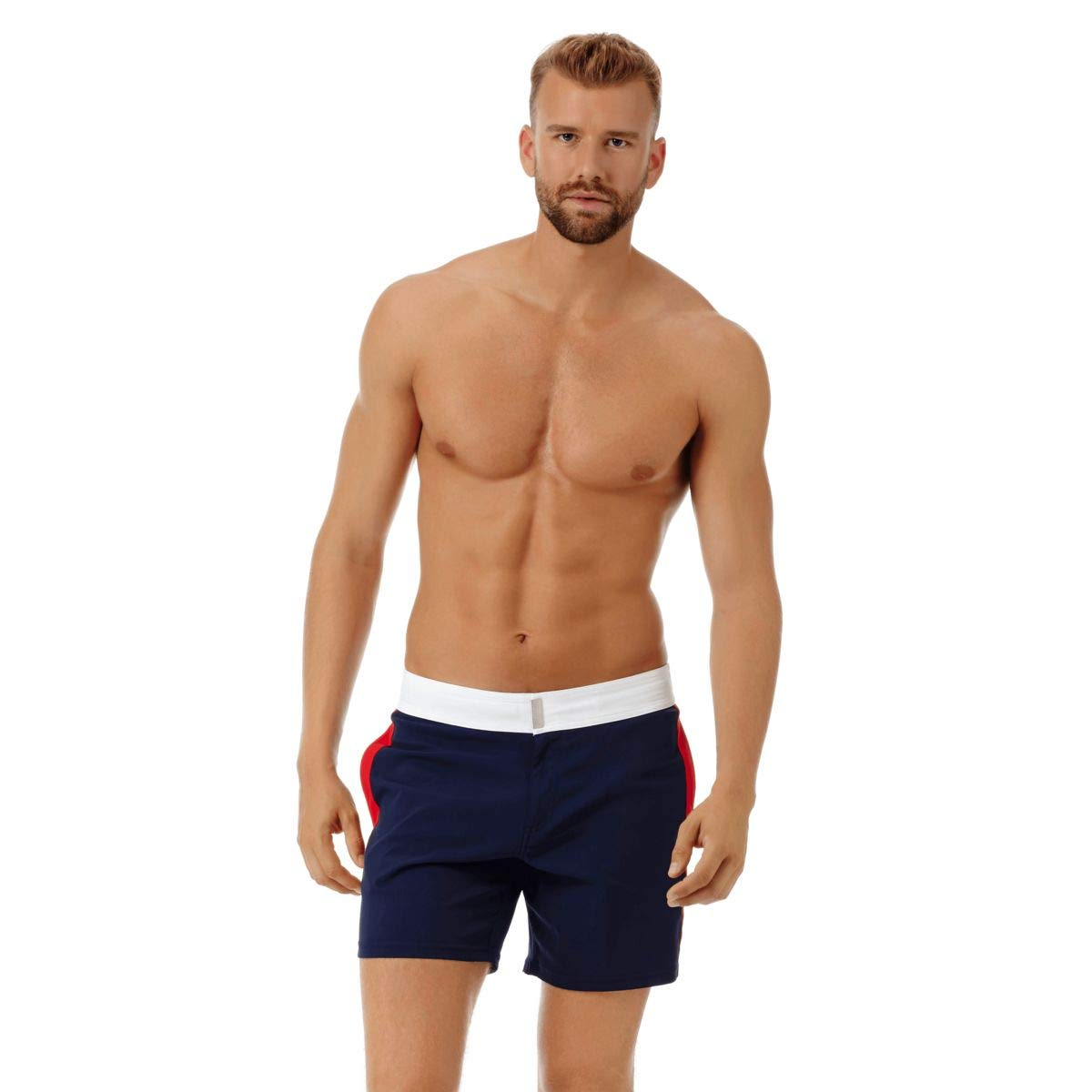 Navy XXL VilebrequinMen Fitted Stretch Swimwear Tricolor