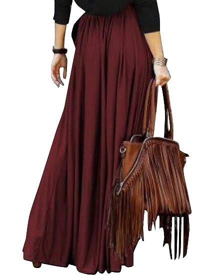 Andopa Safari viajar con vuelo maxi largo de una - línea falda ...