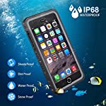 iPhone 7 Plus/8 Plus Waterproof Case, OTBBA Underwater Snowproof Dirtproof Shockproof with Touch ID Full Sealed Cover…