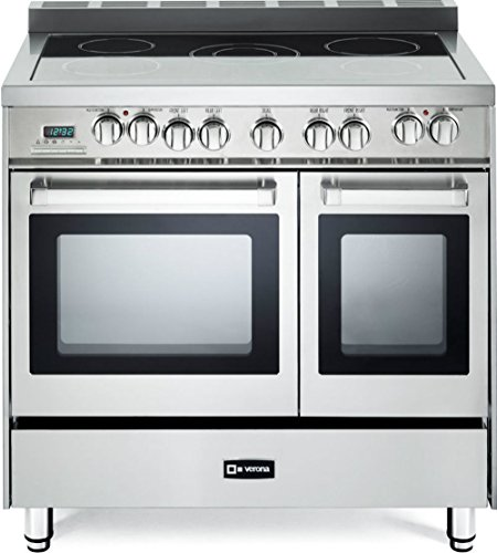 Verona VEFSEE365DSS 36' Electric Double Oven Range Convection...