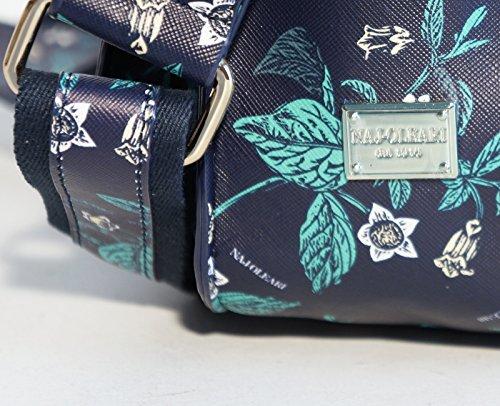10c56aa258 Borsa donna Naj-Oleari in materiale sintetico modello cartella media con  manico e tracolla regolabile (blu): Amazon.it: Scarpe e borse