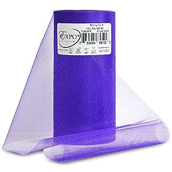 Expo Shiny Tulle Spool of 25-Yard Purple