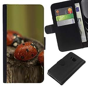 All Phone Most Case / Oferta Especial Cáscara Funda de cuero Monedero Cubierta de proteccion Caso / Wallet Case for HTC One M7 // bozhi korovki kapli boke