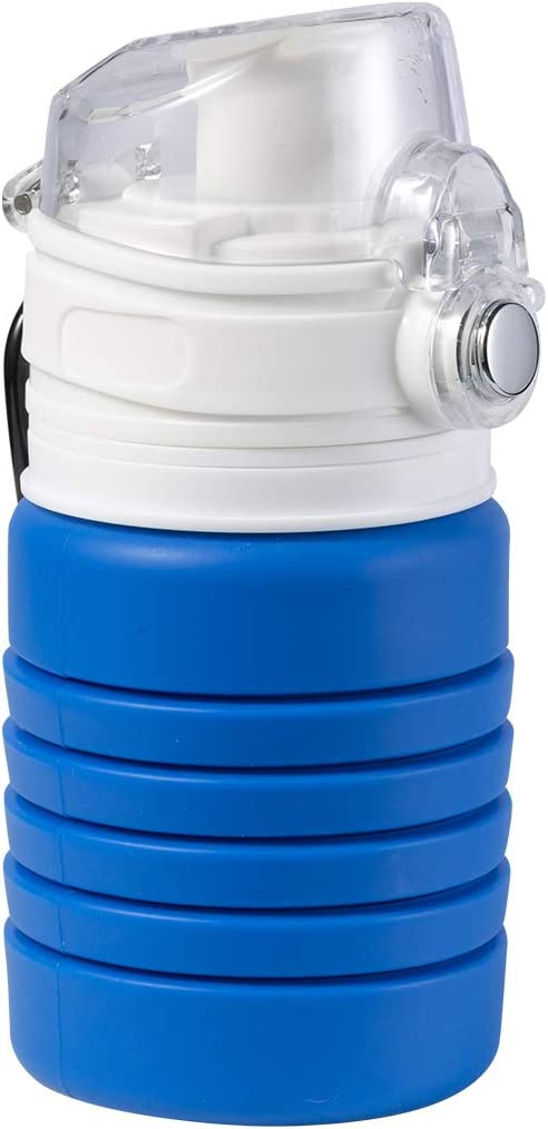 Flip Top for Outdoors and Sports Nodland Collapsible Foldable Water Bottle BPA Free FDA Approved Portable Sports Travel Water Bottle