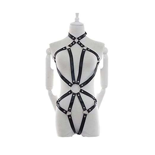 Moda de la correa del arnés de cuerpo Uniformes for mujeres Club ...