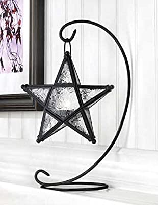 2 Starlight Clear Glass Tabletop Standing Lamp Candleholders