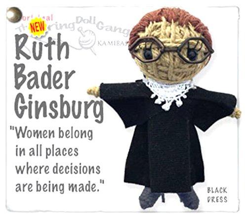- Kamibashi Ruth Bader Ginsburg The Original String Doll Gang Keychain Clip
