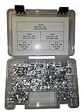 125pc Aluminum Ribbed Body Rivet Nut Assortment Kit 6-32, 8-32, 10-24, 1032, 1/4-20