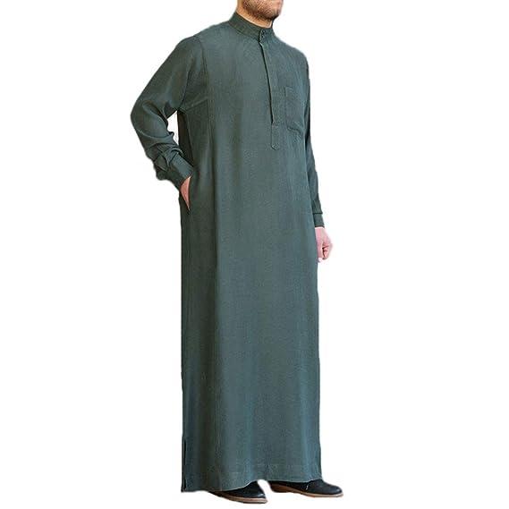 kewing Traje árabe musulmán para Hombres Kaftan Oriente ...