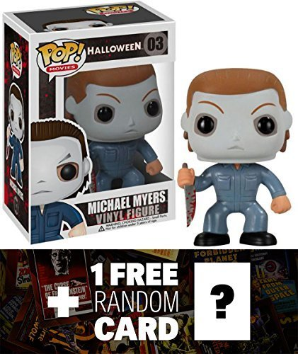 [Michael Myers: Funko POP! Horror Movies x Halloween Vinyl Figure + 1 FREE Classic Sci-fi & Horror Movies Trading Card Bundle] (Sci Fi Halloween)