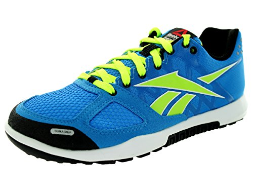 Reebok Kids R Crossfit Nano 2.0 Blue/Yellow/White/Black Training Shoe 4 Kids US