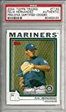 Felix Hernandez Signed 2004 Topps Traded Rookie Card #T144 Seattle Mariners - PSA/DNA Authentication - Autographed MLB Baseball Cards