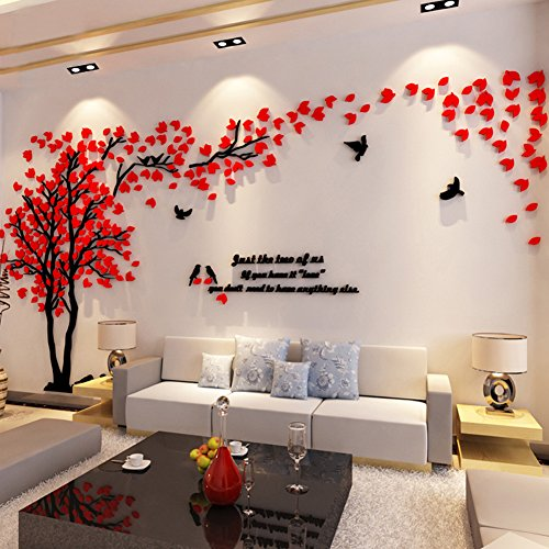 Hermione baby 3d couple tree wall murals for living room - Wall decoration ideas for bedrooms ...