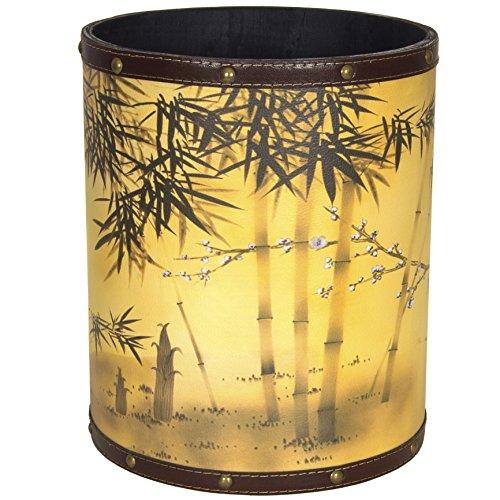 Bamboo Tree Blue (ORIENTAL FURNITURE CAN-WST-SILK1 Bamboo Tree Waste Basket)