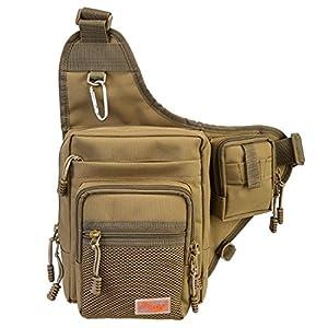 Piscifun Sports Shoulder Bag Fishing Tackle Bag Crossbody Messenger Sling Bags