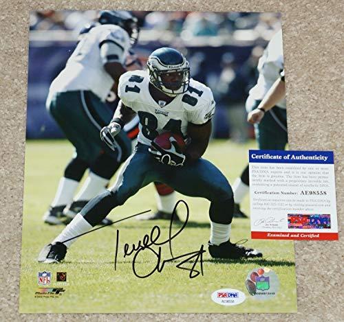 Terrell Owens #81 Autographed Signed Philadelphia Eagles 8x10 Photo + PSA/DNA Coa #Ae98558 ()