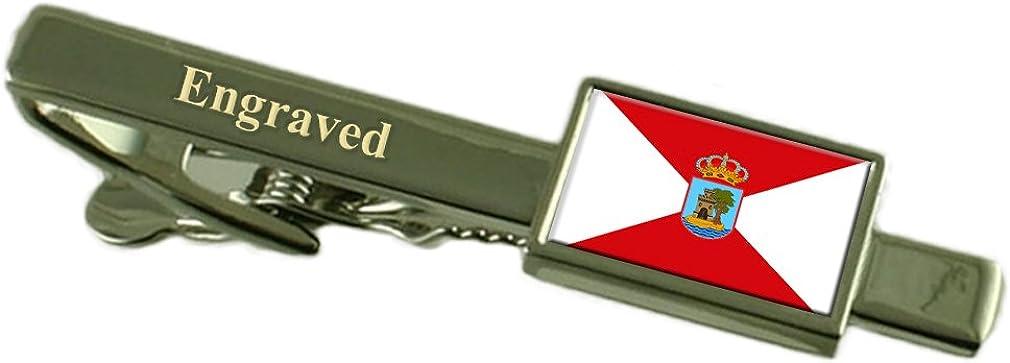 Vigo City Spain Flag Tie Clip Engraved in Pouch