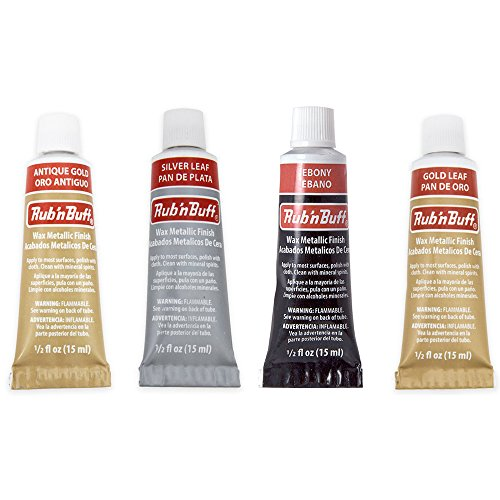 Rub-N-Buff 4 Color Assortment (Silver Leaf, Antique Gold, Gold Leaf, Ebony) from JewelrySupply