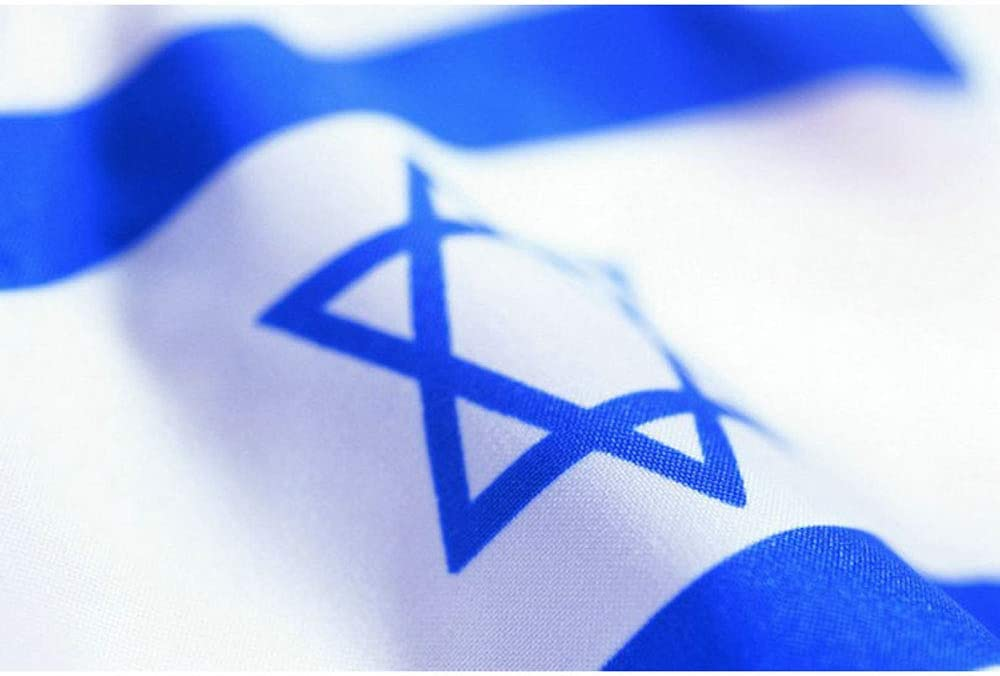 star of david super polyester new israel flag 3 x 5