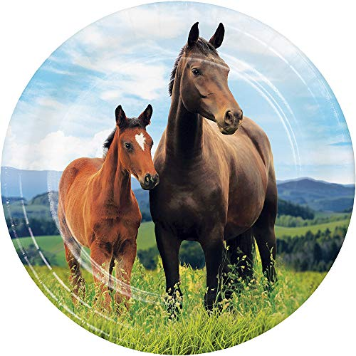 Kentucky Derby Party Supplies Preakness Stakes Belmont Horse Racing Farmhouse Barn Paper Plates Dessert Plates Appetizer Plates 7 Inch Pk -
