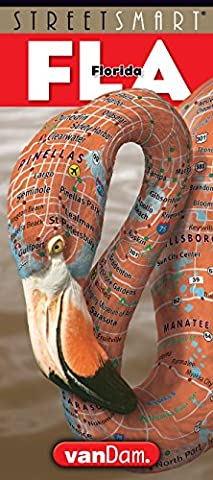 StreetSmart Florida Map by VanDam - State Map of Florida with city street map details - Laminated folding pocket size travel and driving map, 2016 - Detail Map