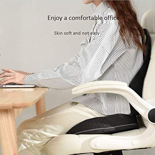 qwe XISABCS sittdyna med minnesskum för kontorsstol och bilstolskuddar – set med 2 (svart, 2 st)
