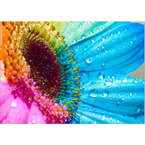 KAYI Rainbow Sunflower 5D Diamond Painting Kit Full Drilled DIY Handmade Rhinestone Embroidery Cross-Stitching Set Mosaic Home Room ()