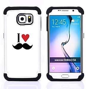 King Case - Layer I Love Moustache Heart - Cubierta de la caja protectora completa h???¡¯???€????€?????brido Body Armor Protecci??&AE