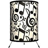 Lamp-In-A-Box TRI-MUS-NOTAT Music - Musical Notation Tripod Lamp, 8 x 8 x 14
