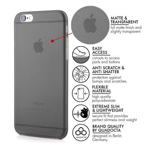"""3 x iPhone 6/6s Plus (5,5"""") Ultra Slim Case - Schutzhülle - Tenuis in Weiß, Schwarz und Grau - Ultra dünne iPhone Hülle - Leicht transparentes Case von QUADOCTA®"""