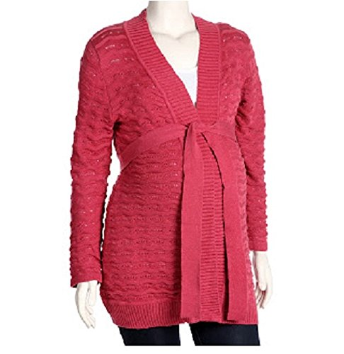 Dynabelly Maternity Belted Cardigan Sweater - Jacket, (Belted Maternity Sweater)